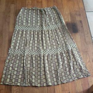 Green and pink maki skirt